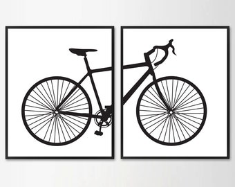 Scandinavian poster bicycle, Minimalist, Printable Wall Art, Minimal, Wall Decor, Modern Poster, Digital poster print Instant Download 16x20