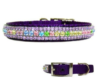 Spring Gardens Crystal Jeweled Dog Collar