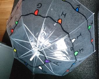 Hand painted Stranger Things umbrella
