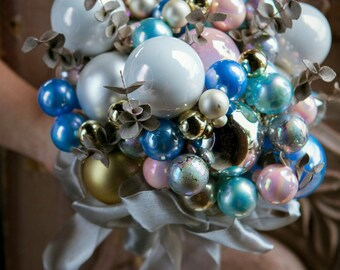 CUSTOM CHRISTMAS Bridal Ornament Bouquet - to fit your style, budget & colors