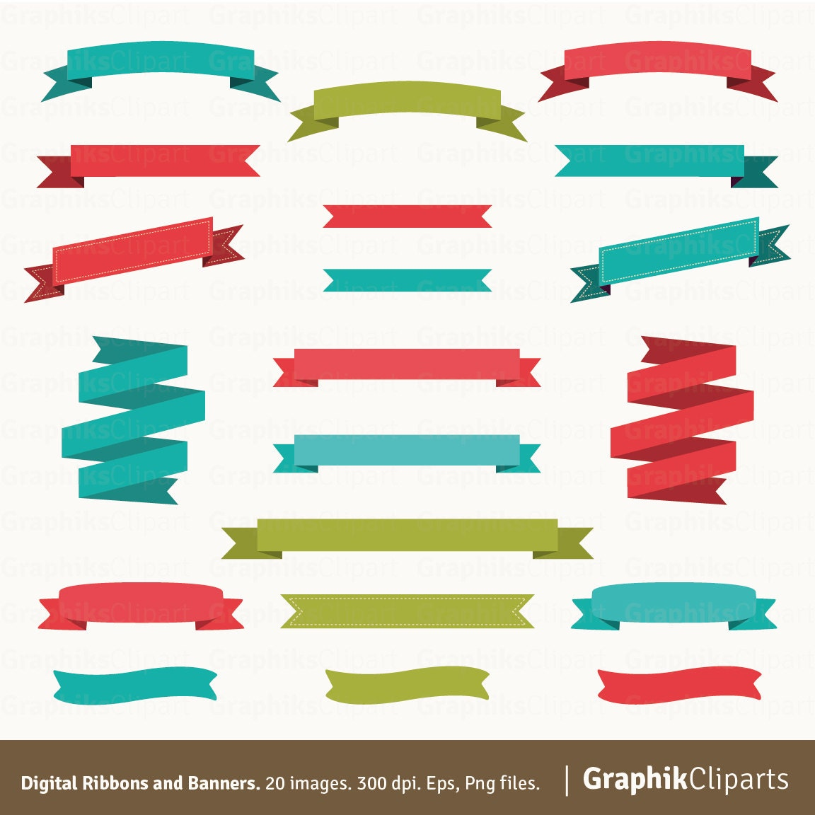 digital ribbons banners clipart vector ribbons and vector rh etsy com vector ribbon banner illustrator vector ribbon banner template