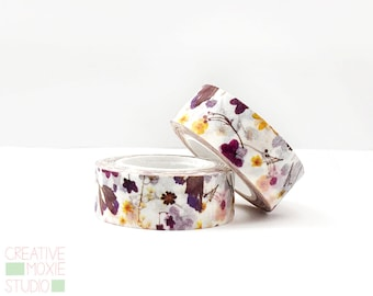 Floral Washi Tape - Purple Washi Tape - Party Supply - Planner Washi - Planner Tape - Floral - Scrapbook - Masking Tape - Happy Planner Tape