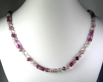 """Fluorite Necklace Gold 24"""""""