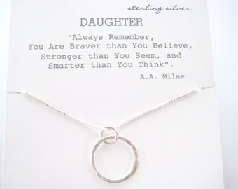 Gift for Your Daughter, Daughter Graduation Gift, Daughter Birthday Gift, Daughter Necklace, Daughter Gift, Eternity Necklace