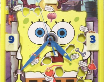 Spongebob Operation Game ~ Battery Operated Clock ~ Game Room ~ Re-Purposed Game