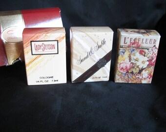 Vintage Coty Mini Colognes Sand Sable L'effleur Lady Stetson New