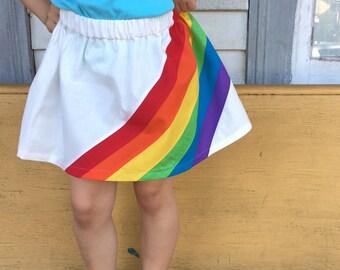 RAINBOW // handmade fabric // toddler and baby skirt