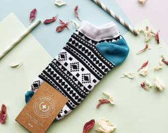 Chamanes short socks, Summer Socks, Geometric Socks, Short Socks, Socks for Men/ Women. Free  worldwide delivery