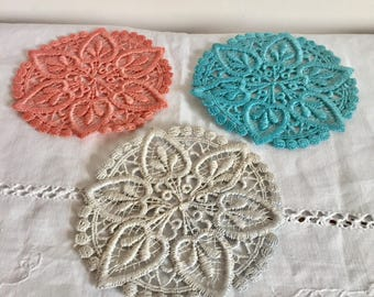 Vintage decorative appliqué circles. Three in total.