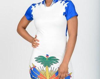 Haitian white Flag dress