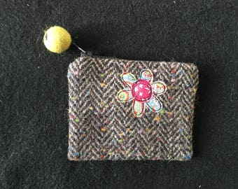 Hand made appliqué coin purse