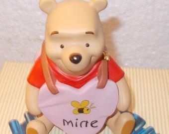 "Pooh & Friends Figurine, Porcelain ""Bee Mine"" 3 3/4"" high. Winnie the Pooh. Item 11F 300450"