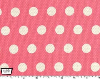 Textured Basics - Cool Dots Salmon Pink by Patty Young from Michael Miller