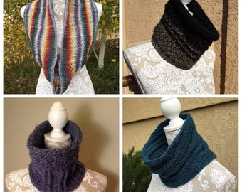 Cowls, Vol. 2 eBook - 4 unique loom knit patterns