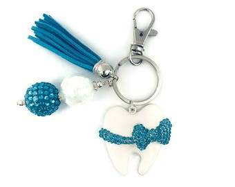 Tooth Key Chain, Dental Hygienist Key Chain, Dentist Key Chain, Dental Assistant Key Chain, Dental Gift, Teeth, Dental School, Graduation