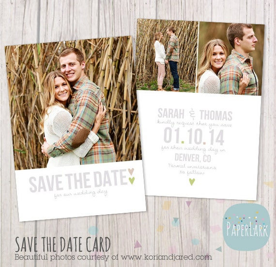Save the Date Card Template AW007 INSTANT DOWNLOAD