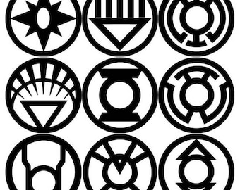 Green Lantern Corps Decal 9 Pack