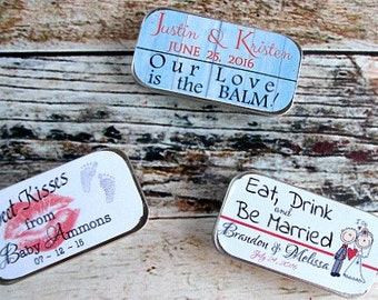 Wedding Favors - Wedding Favor Lip Balm - Wedding Favor Idea - Unique Wedding Favor -  Custom Wedding Lip Balm - Lip Balm Favor