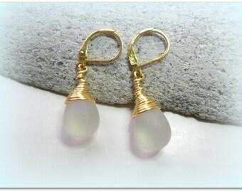 Teardrop Frosted Matte Clear Ice Earrings Czech Crystal Earrings Etsy UK Clear Matte Bridesmaid Earrings Glass Tear Drop Earrings