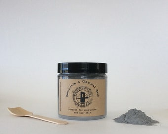 Bentonite & Charcoal Mask - Face Mask - Bentonite Clay Mask - Activated Charcoal Mask - Deep Cleaning Mask - Mask for Acne - For Oily Skin