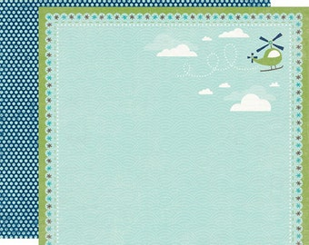 Echo Park Scrapbook Paper - Helicopter