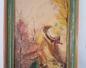 Impressionist painting signed