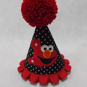 Elmo party hat, 1st or 2nd birthday, Elmo birthday, photo shoot, boys party, boys cake smash, Elmo hat
