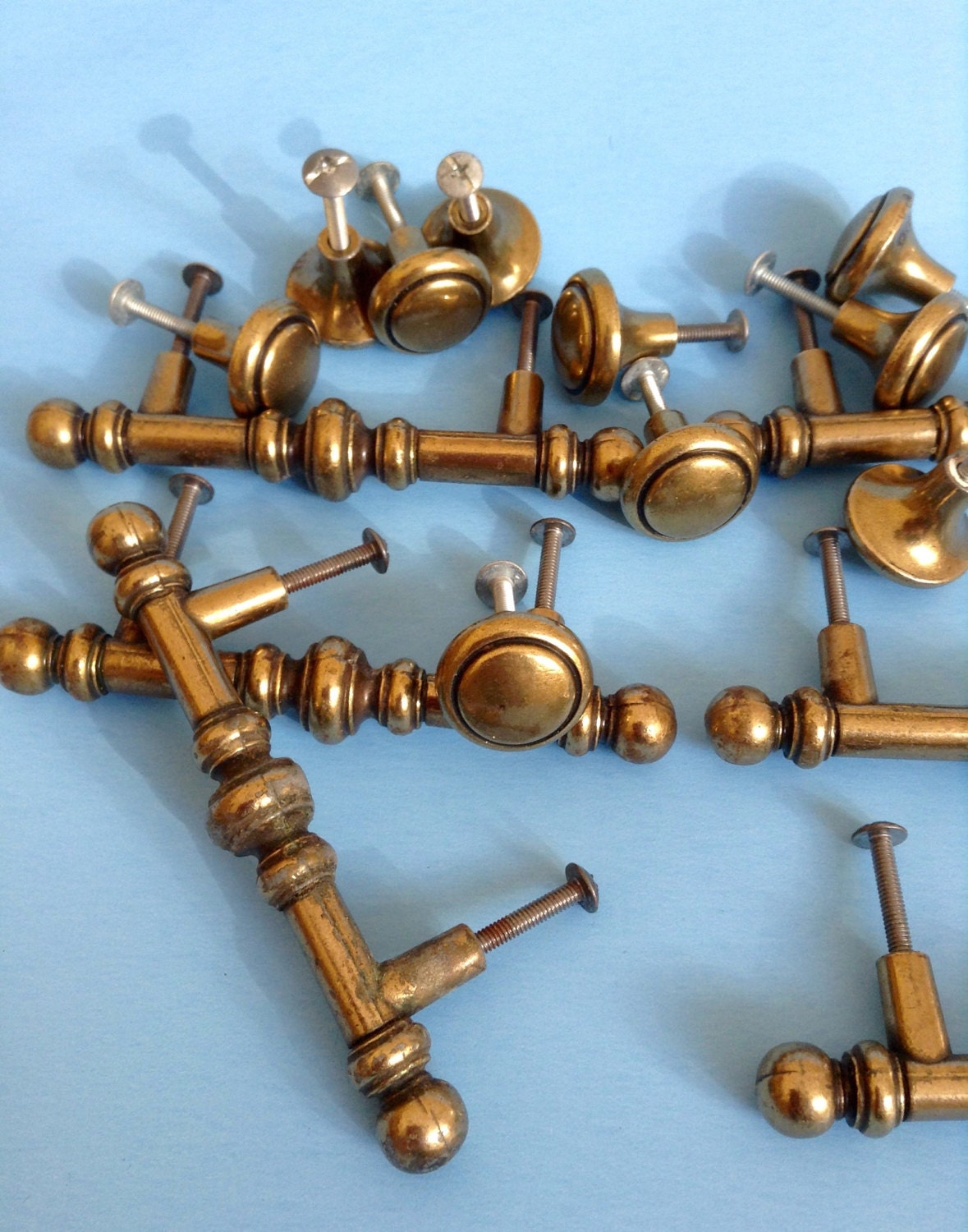 Vintage Canadian drawer pulls and knobs, metal knobs and pulls ...