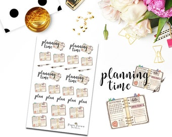 PLANNING Planner Stickers for  Erin Condren Planner/Happy Planner/ Horizontal Planner Stickers/Functional Deco Icon/Sticker kit