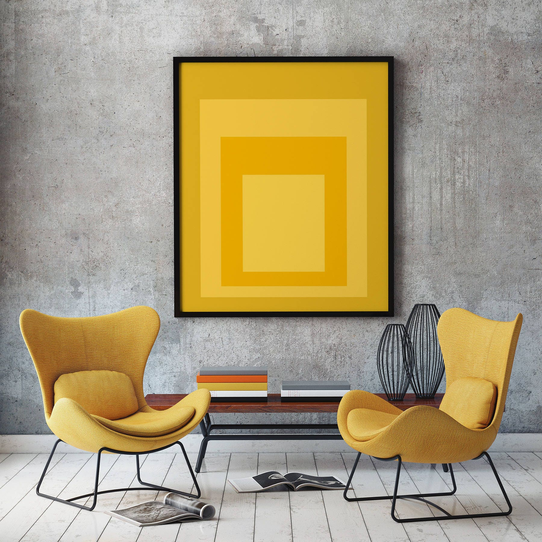 Abstract Yellow Wall Art Abstract Poster Art Yellow Prints
