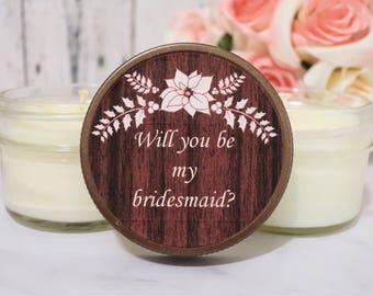 Bridesmaid Proposal - Will You Be My Bridesmaid - Bridesmaid Proposal Candle - Bridesmaid Candle Proposal - Asking Bridesmaid Set of 6