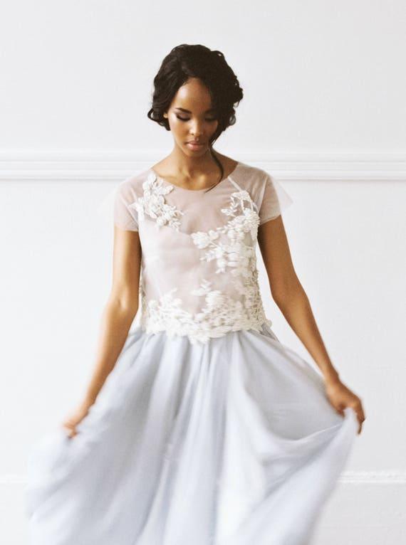 Seide Hochzeit Kleid //Rosalia/ Braut trennt Perle Perlen