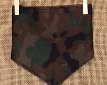 Soft and cozy camouflage bandana bib