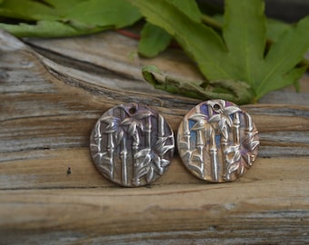 Handmade White Copper Bamboo Charms