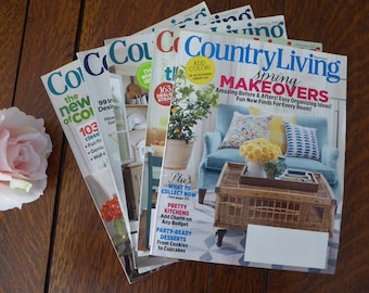 FIVE Country Living Magazine Mixed Years (Lot TWO), DESTASH Country Living Magazine