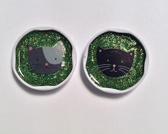 CUTE CATS resin milk cap magnet set