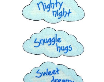 Expo BaZooples Iron-on Patch Applique Fluffy Clouds  Pack of 3