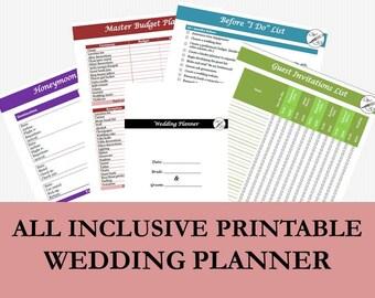 Wedding Binder Wedding Planner Excel Wedding Planner Kit