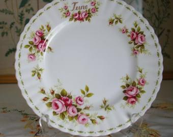 Royal Albert Roses Pattern June Plate