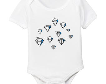 Diamonds Organic Cotton Baby Bodysuit