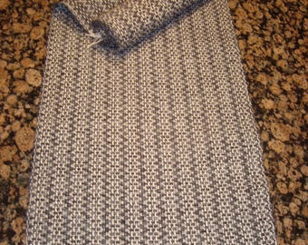 Handwoven Table Runner - Black and Grey