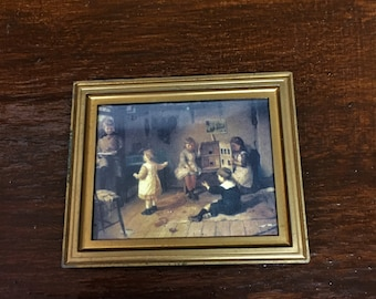Miniature Victorian Style/Children Playing/Picture