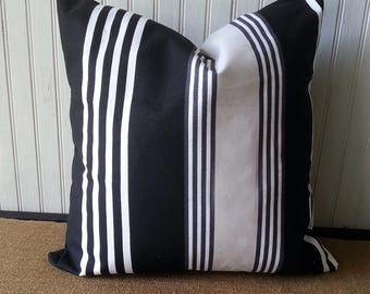 Black And White Stripe Pillow - Black And White Stripe Pillow Cover - Black and White Pillow - Stripe Pillow - Stripe Pillow Cover
