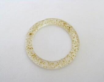 Bangle Resin-Resin Clear Bangle-Resin Jewellery-Clear Resin Bangle-22K Karat Gold Leaf -Modern Jewelry