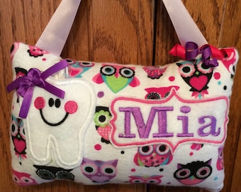 Owls Personalized Tooth Fairy Pillow