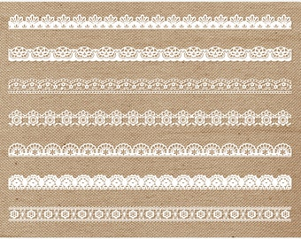 Borders Shabby Chic Lace Lacey
