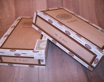 EMPTY Cigar Box for Crafting - Set of 2 Boxes - BuenaVentura - Pralines - wooden box P 652