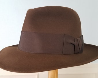 Perfect condition 1940s Linpark fedora, size 7 1/8