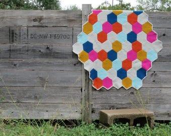 Hexagons Blanket --- Hexagon Pin Loom Weaving Pattern
