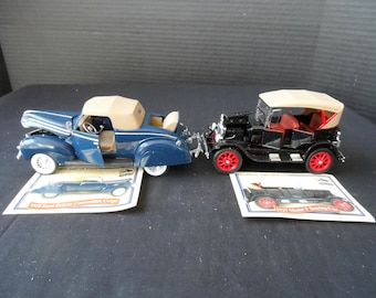 Golden Age of Ford Nat'l Motor Museum 1/32 Scale Diecast 1939 Ford Deluxe Convertible Coupe 1927 Model T Touring Car 1403
